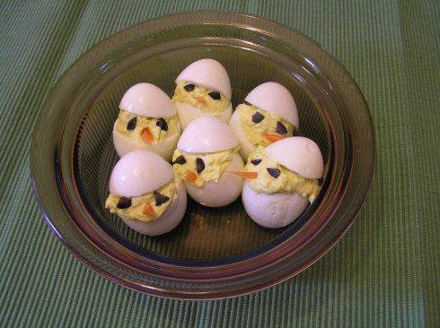 Chick Deviled Easter Eggs