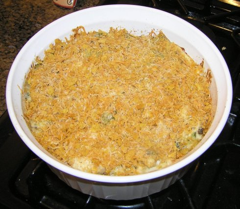 Cheesy Broccoli, Chicken, and Rice Casserole