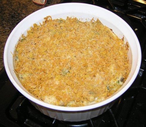 Cheesy Broccoli, Chicken, and Rice Casserole