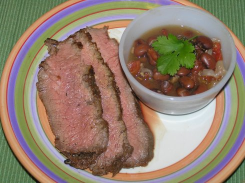 Tri-tip and Drunken Charro Beans