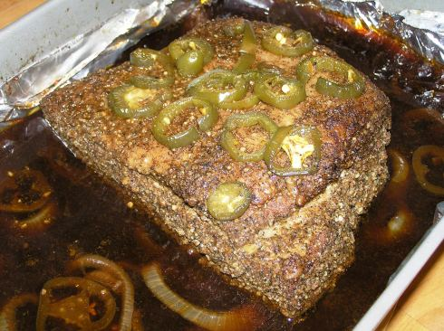 Beef Brisket Out of Oven