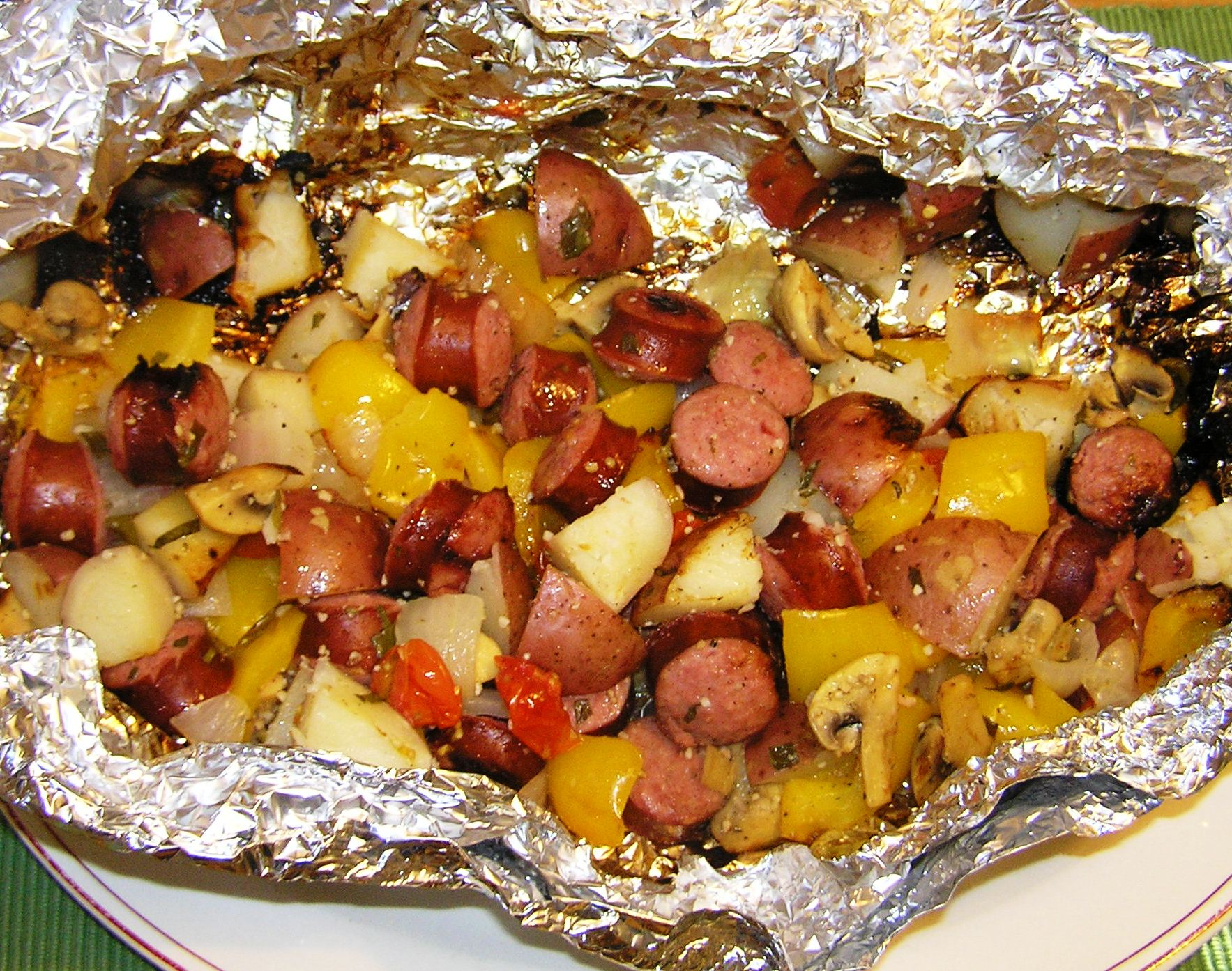 Grilled Sausage and Vegetables in Foil Packet | anotherfoodieblogger