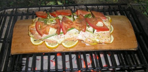 Plank-Grilled Salmon