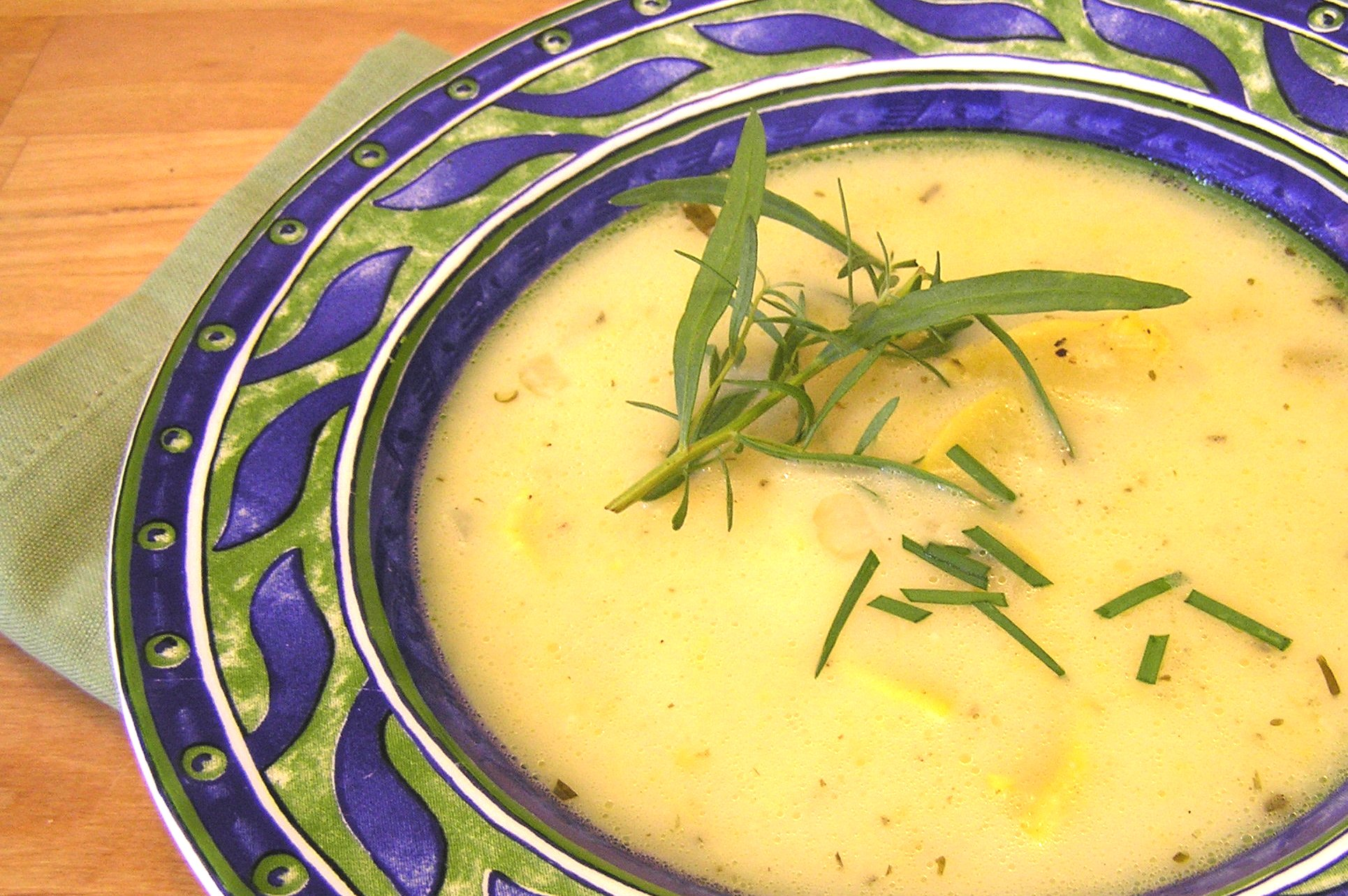 Lemon Tarragon Summer Squash Soup | anotherfoodieblogger
