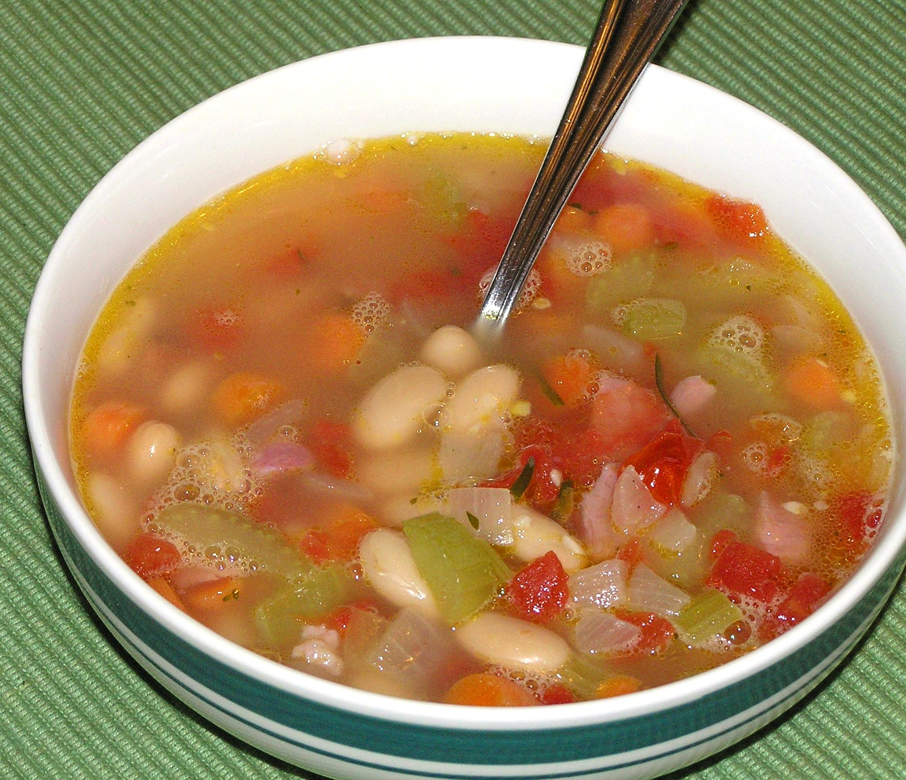 Rosemary White Bean Soup with Veggies and Ham | anotherfoodieblogger