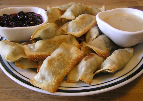 Baked Turkey and Stuffing Wontons