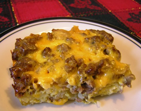 Hash Brown, Sausage, and Egg Casserole