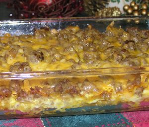 Hash Brown, Sausage, Egg, and Cheese Casserole
