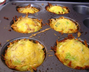 Rows of Hash Brown Muffins