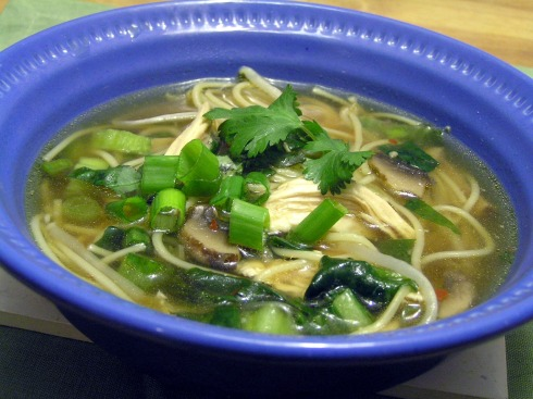 Soothing Asian Chicken Noodle Soup