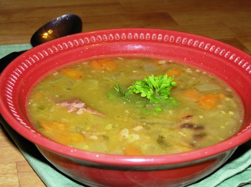 Split Pea Soup with Ham Bone
