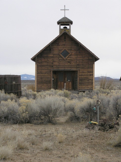 Fort Rock Ghost Town Church