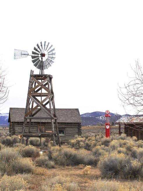 Fort Rock Ghost Town Windmill