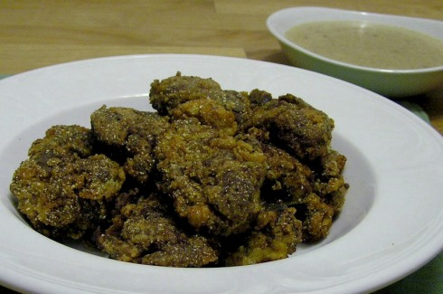 Fried Chicken Livers with Cream Gravy