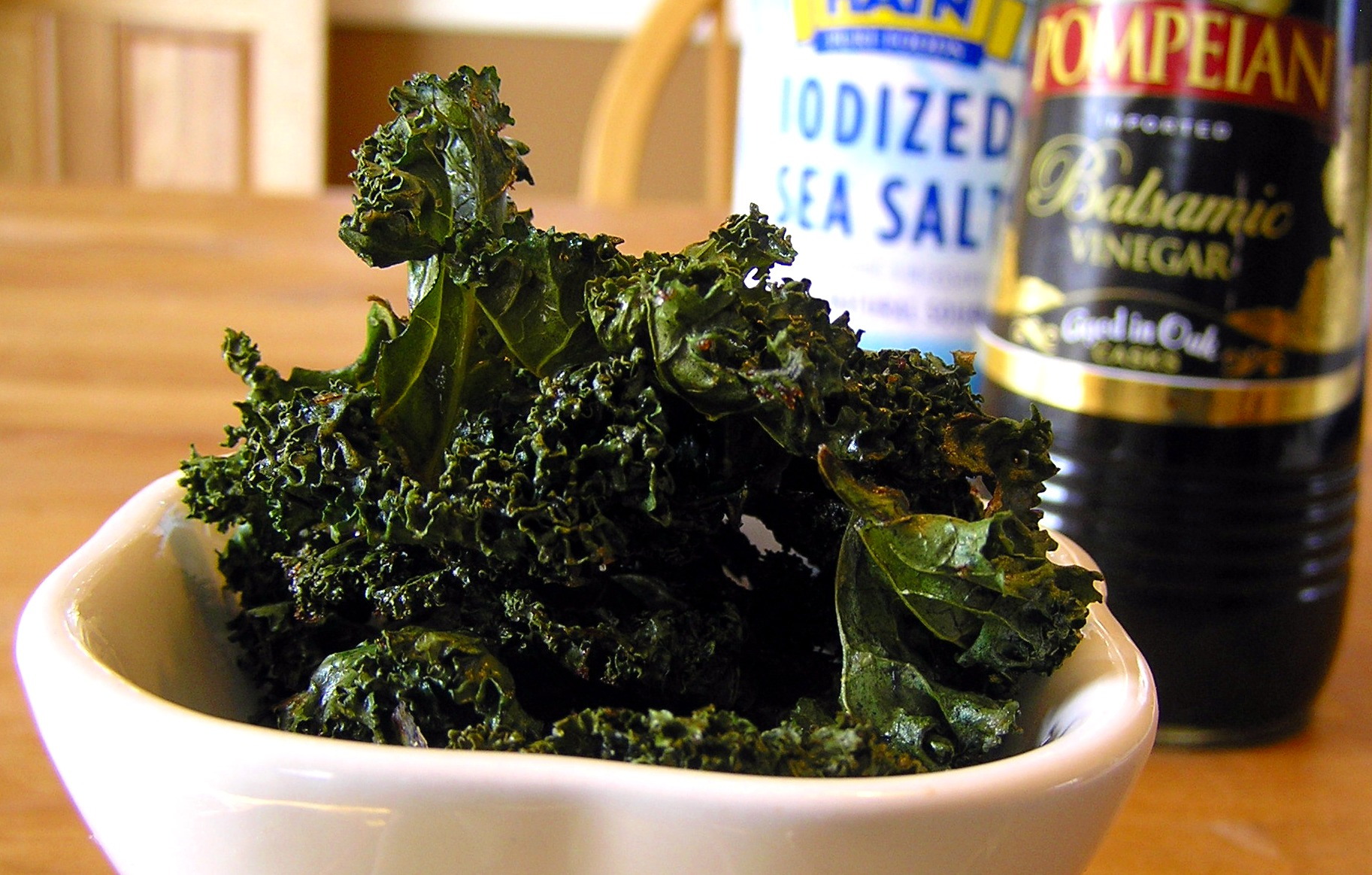 Roasted Kale Chips With Sea Salt And Vinegar Recipe — Dishmaps