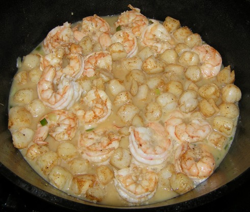Bay Scallops and Shrimp