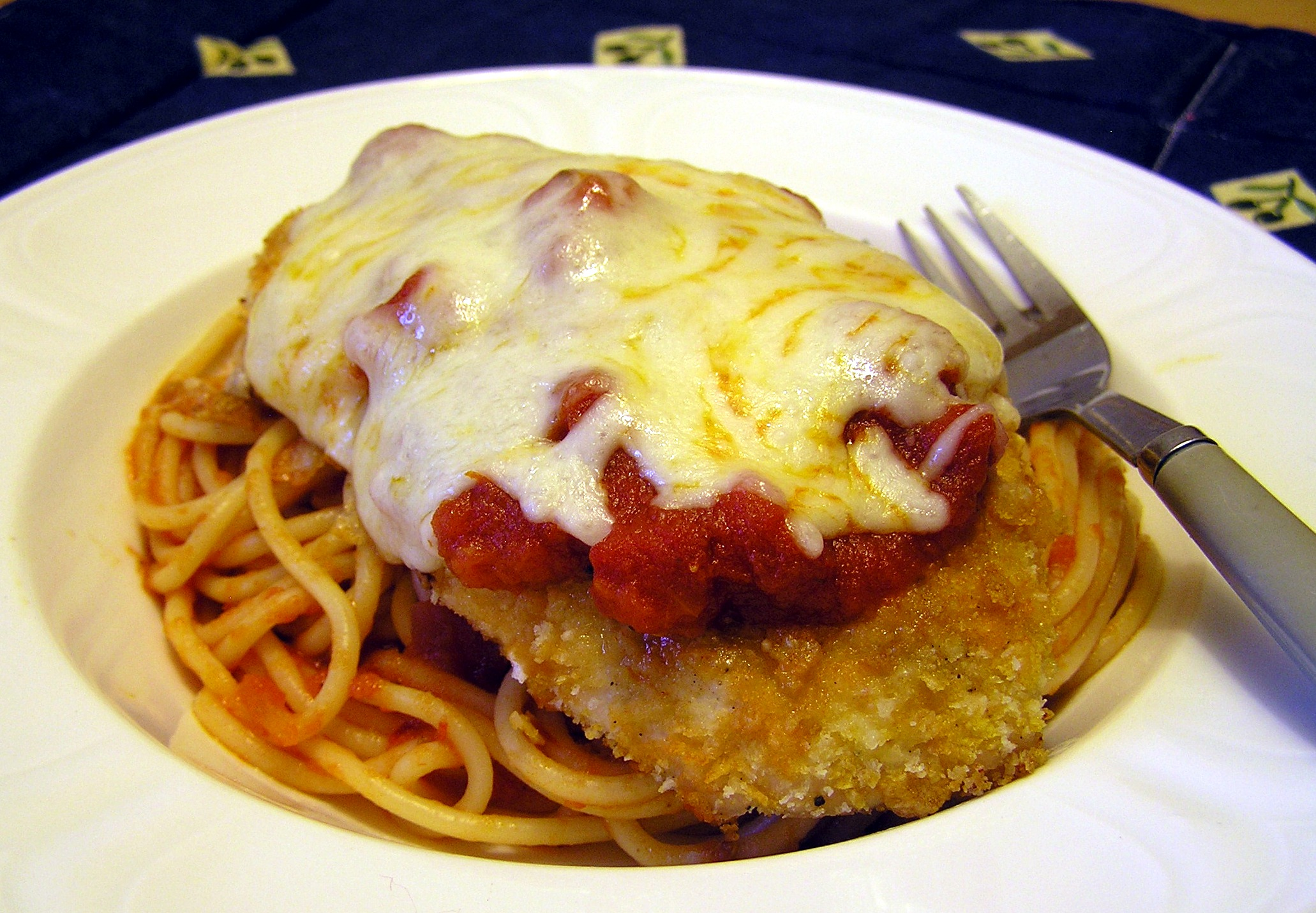 Crispy Baked Chicken Parmesan | anotherfoodieblogger