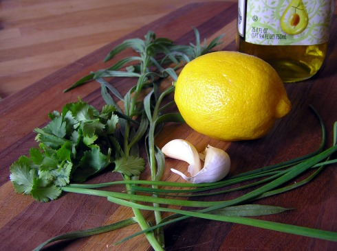 Lemon and Herbs for Marinade