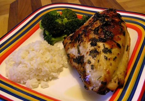 Lemon, Tarragon, Chive, and Cilantro Grilled Chicken