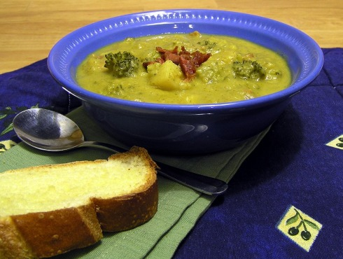 Thick and Hearty Broccoli and Potato Cheese Soup