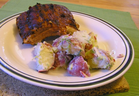 Potato Salad and Ribs