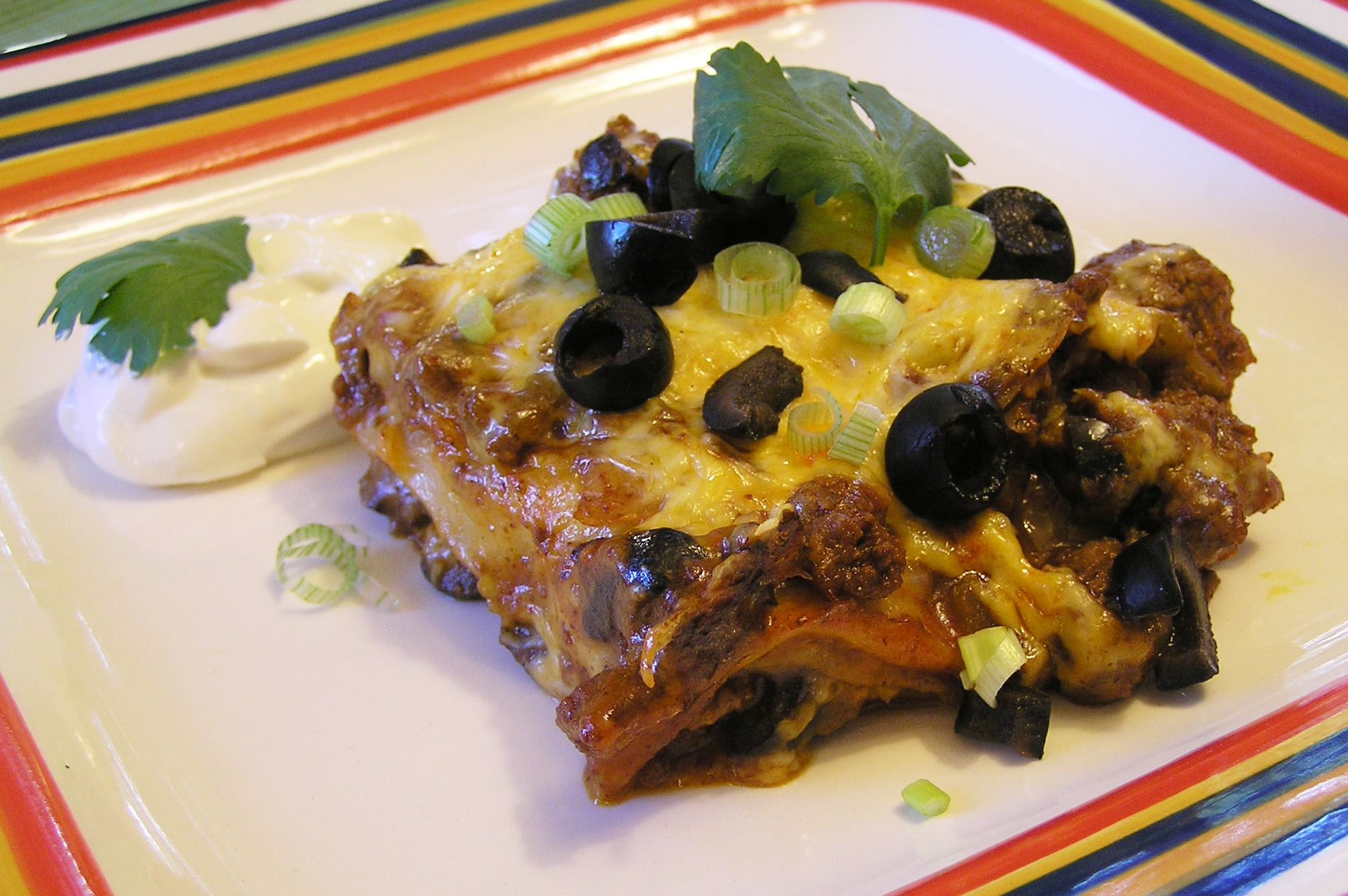 ... Easy Stacked Ground Beef Enchilada Casserole | anotherfoodieblogger