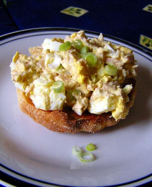 Simple Egg and Tuna Salad Stack
