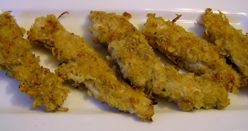 Crispy Tortilla Chip Baked Chicken