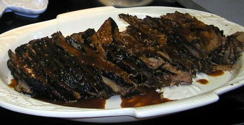 Platter of BBQ Brisket