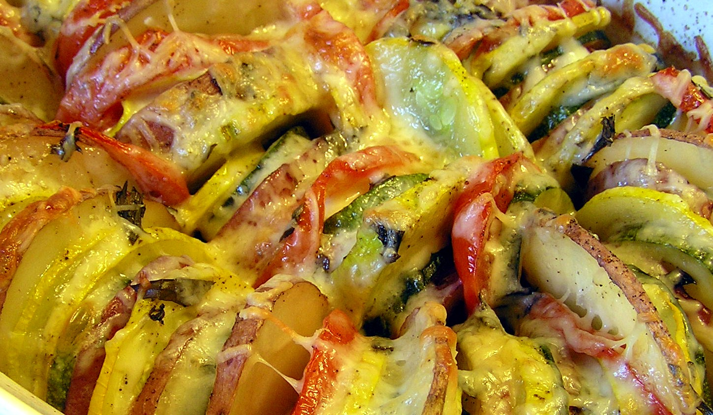 Roasted Summer Vegetable Tian | anotherfoodieblogger