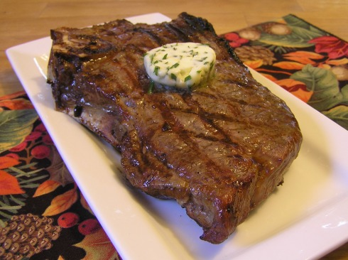 Tarragon Chive Lemon Butter on Steak