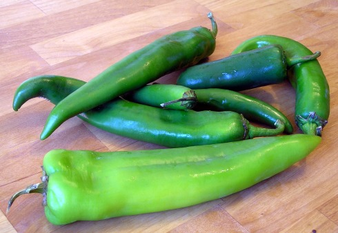 Anaheim, Serrano, and Jalapeno Peppers