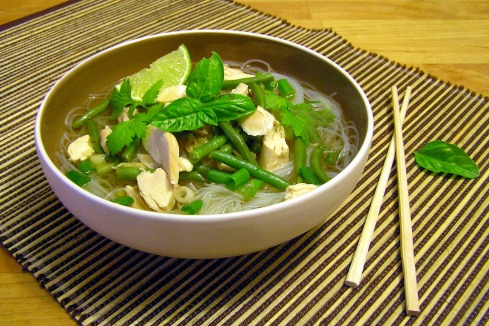 Asian Green Bean Chicken Noodle Soup 2