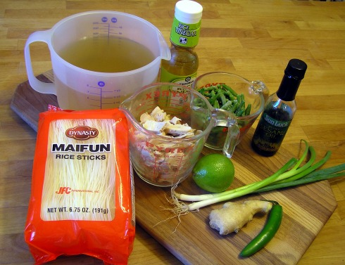 Chicken Green Bean Noodle Soup Ingredients