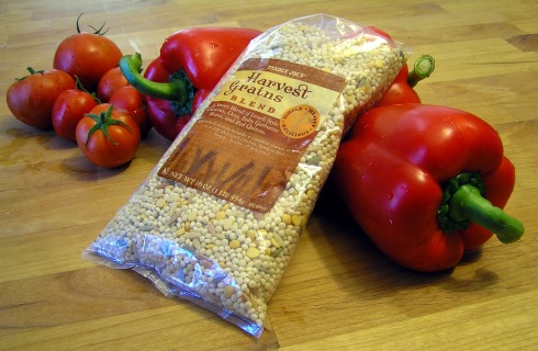 Trader Joe's Harvest Grains Red Bell Peppers and Tomatoes
