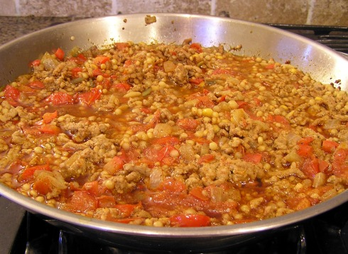 Simmering Bell Pepper Stuffing