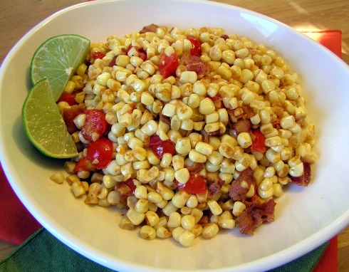 Spicy Skillet Corn with Tomatoes