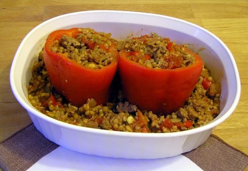 Stuffed Bell Pepper Ready for Oven