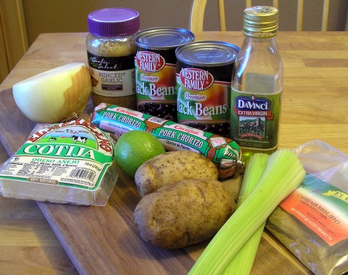 Black Bean, Potato, Chorizo Soup Ingredients