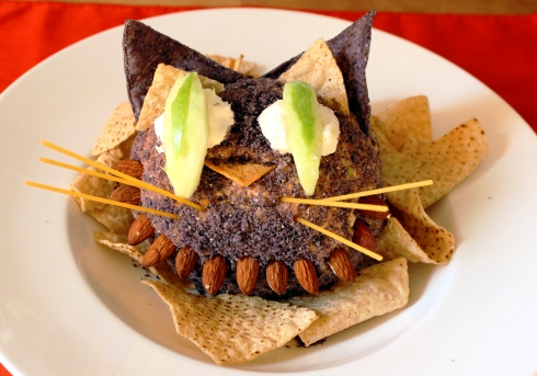 Cheshire Cat Halloween Cheese Ball