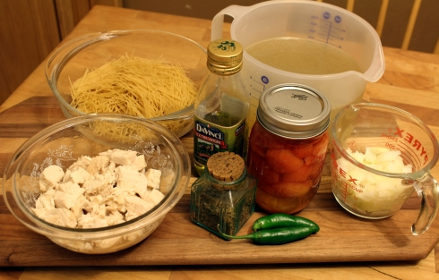 Fideo Soup Ingredients