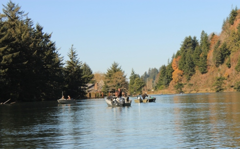 Fishermen on the Siletz River