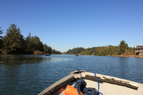 Heading out on the Siletz River to fish and crab