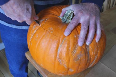 Cutting Open the Pumpkin