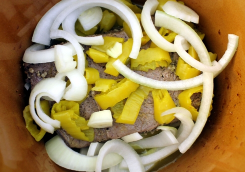 Roast with Peppers and Onions Ready to Cook