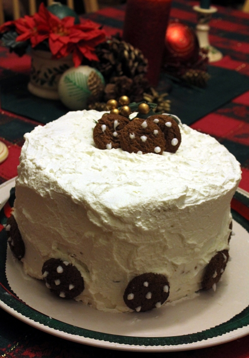Chocolate Gingerbread Toffee Cake