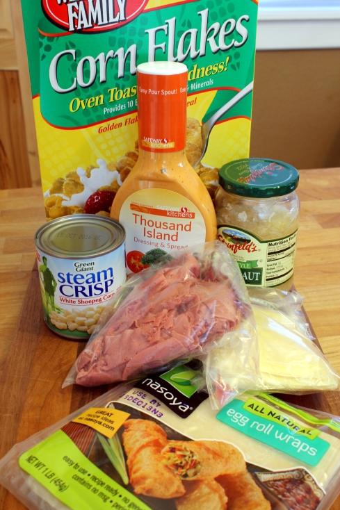 Crispy Reuben Roll-Ups Ingredients