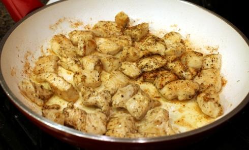 Sauteing the Chicken