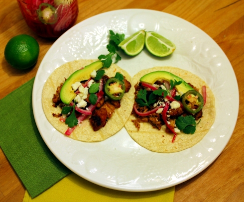 Carnitas Tacos with Spicy Pickled Red Onions
