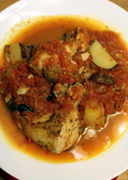 Roasted Chicken with Tomatoes and Potatoes